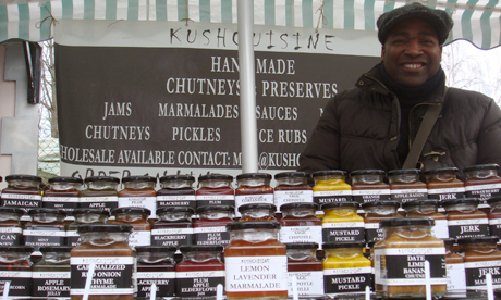 Ian Jennings of Kush Cuisine, who hand-makes his own huge range of preserves using fresh ingredients from local farms