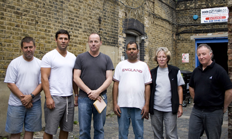 Clapton Tram Sheds campaigners. Photo: © Laura McCluskey