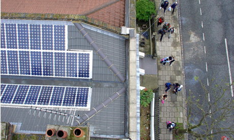 Local eco-campaigners are calling for more renewables like solar panels to tackle climate change Photo: © Friends of the Earth