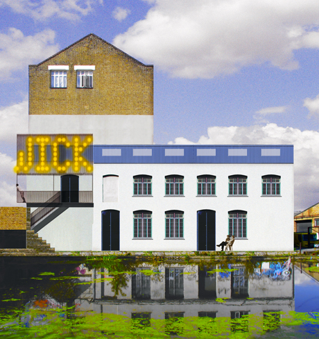 Artist's impression of Hackney Wick arts centre (east facade). Image: David Kohn