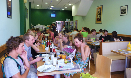 The newly re-opened Mess Cafe on Amhurst Road