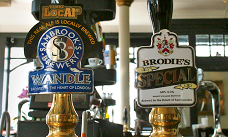 Locally brewed ales at the Duke of Wellington