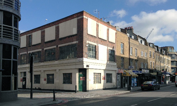 The existing 1920s building at 293 Old Street