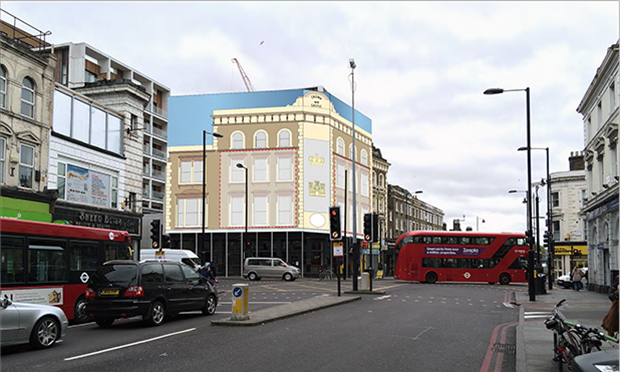 Proposed view of 600 Kingsland Road as submitted to Hackney Council