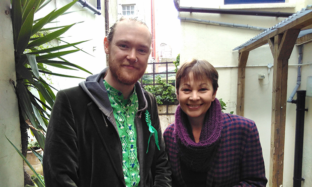 Alistair Binnie-Lubbock with Caroline Lucas