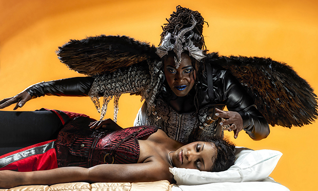 Alexia Khadime and-Sharon D. Clarke in Sleeping Beauty at Hackney Empire