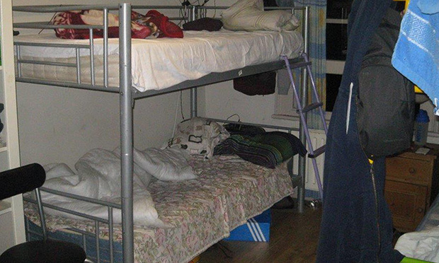 Bunkbeds crammed into bedrooms.