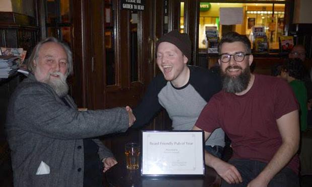 Beard friendly pub of the year award cock tavern credit Hazel Potter