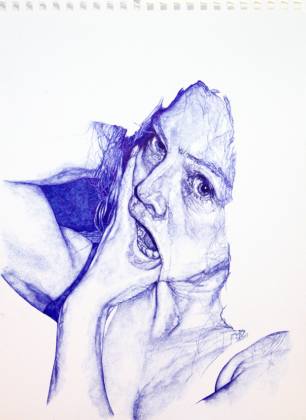 Biro drawing by Sarah Muirhead