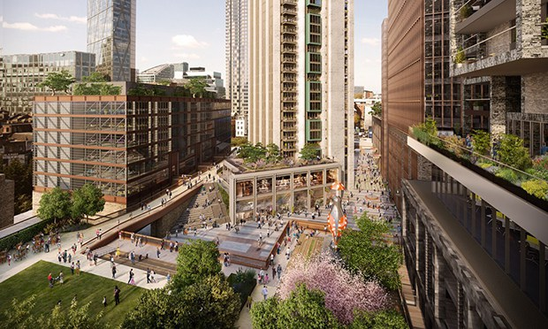 Designs for the Bishopsgate Goodsyard development. Photograph: Hammerson plc