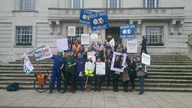 Doctors at Hackney Town Hall. Photograph: Hackney Citizen