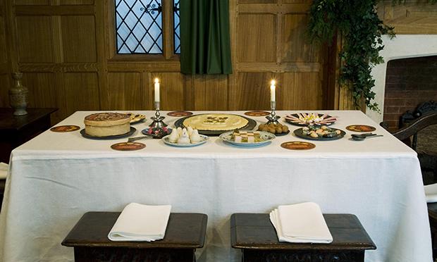 A Christmas table in 1630. Photograph: Jayne Lloyd
