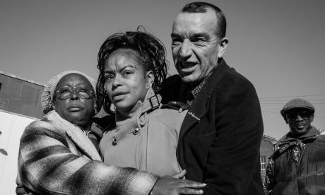 Gillett Square regulars Carol, Bianca and Graham. Photograph: Roland Ramanan