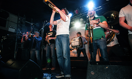 Hackney Colliery Band at a gig last summer. Photograph: Annelie Rosencrantz