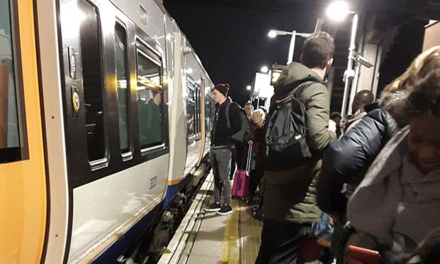 Passengers at Hackney Central station