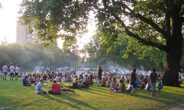 London Fields BBQ_area