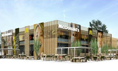 McDonalds exterior Olympic Park artist impression