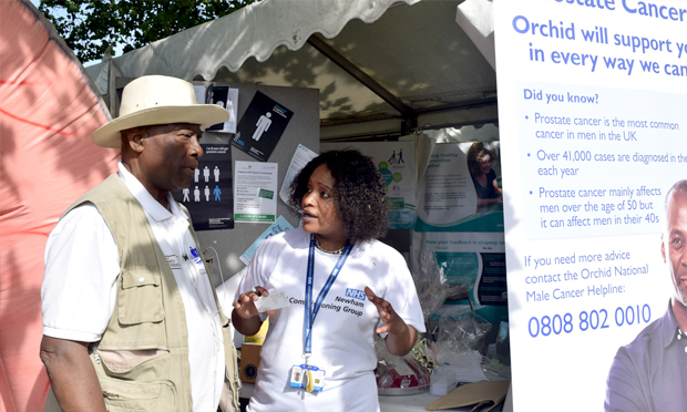 Having a ball: a recent Prostate Cancer Roadshow in Newham. Photograph: Spink Health