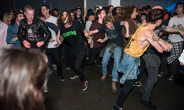 Dancing to Heck at Shapes. Photograph: Carla Salvatore