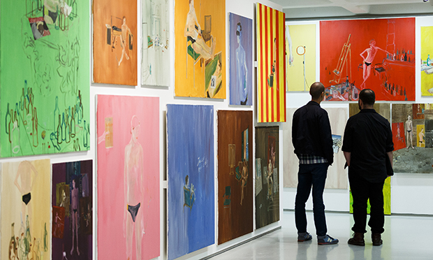 Ragnar Kjartansson exhibition at Barbican Art Gallery. Courtesy of the artist, Luhring Augustine New York and i8 gallery Reykjavik. Photograph: Tristan Fewings/Getty Images
