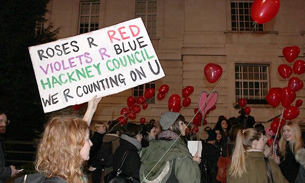 Sisters Uncut protest placard