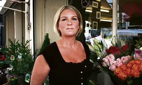 Jo Price of A G Price florist, Well Street