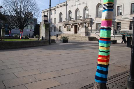 Yarn bomb Mare Street Hackney