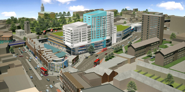 An artist's impression of the Tesco plans rejected by the council six years ago