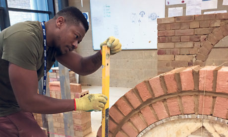 Building bricks: HCC workshop technician Mandi measures up.