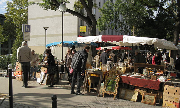 A flea market in Paris. Photograph: Demeester/Creative Commons