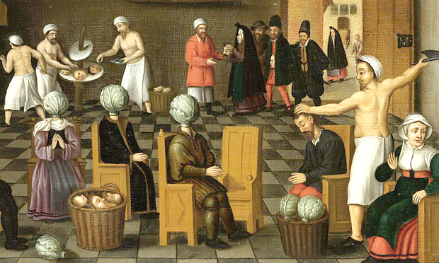 Detail from The Legend of the Baker of Eeklo by Cornelis van Dalem and Jan van Wechelin. Image: Wikimedia Commons