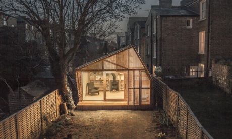 """It's like my world"": Roland Chambers' writing shed. Photograph: Surman Weston."