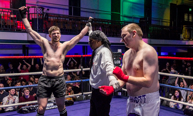 A triumphant White. Photograph: London Chessboxing