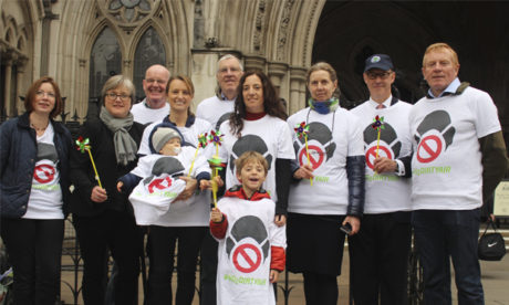 ClientEarth supporters and the Green Party's Caroline Russell outside court last year. Photograph: ClientEarth