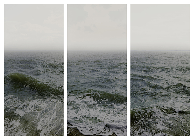 Water I part 1, 2 & 3, (Shoeburyness towards The Isle of Grain), England, 2015, by Nadav Kander, Courtesy of Flowers Gallery London and New York