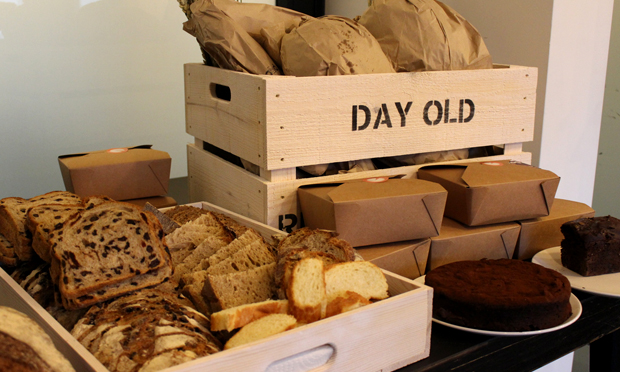 A box of DayOld's baked goods. Photograph: DayOld