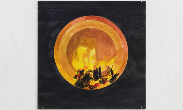 Oscar Tuazon's Fire Circle. Courtesy Maureen Paley