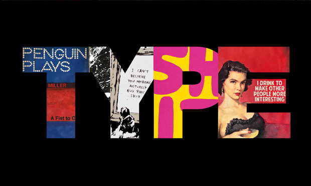 A promotional still for TYPE, featuring work by the four artists involved. Image: Hang Up Gallery