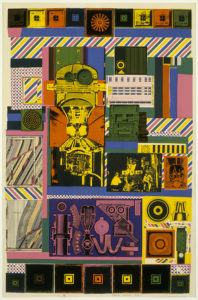 Conjectures to Identity (1963–64) by Eduardo Paolozzi. Courtesy the British Council Collection © Trustees of the Paolozzi Foundation, licensed by DACS