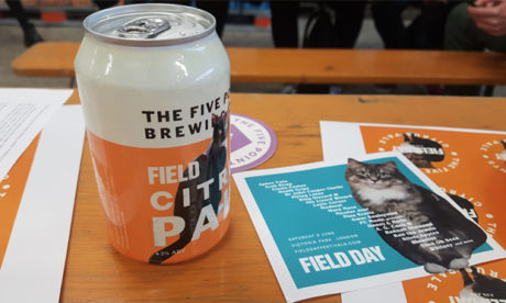 Hair of the cat: a can of Field Day Citrus Pale Ale