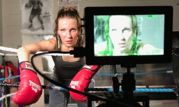 Stage fight: 'special place; Pedro Boxing Club features in short film Take The Punch. Photograph: Donna Travis
