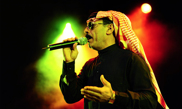 Syrian singer Omar Souleyman plays Oval Space next month. Photograph: Stuart Sevastos / Wikimedia Commons