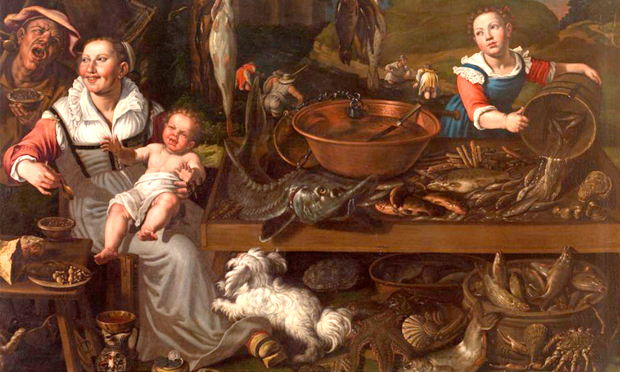 Detail from Vincenzo Campi's Fishmongers (c. 1580)