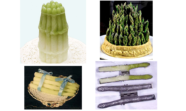 Some photographs of asparagus - and asparagus-shaped ices - from the fantastic Historic Food website. Courtesy of Ivan Day