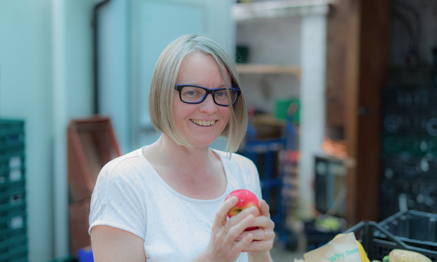 Jo Barber, Growing Communities' veg scheme coordinator. Photograph: Ben Dwyer (@cultiv8media)