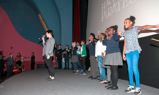Hackney Pirates on stage at the Rio Cinema