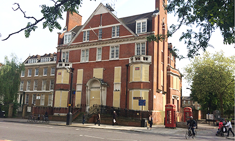 The now-closed Hackney Central Police Station
