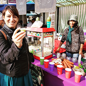 The juice is loose: a scene from a food tour on Ridley Road. Photograph: Hackney Tours
