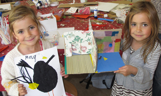 Little makers: The Geffrye Museum got children to decorate their ideal room as part of a workshop