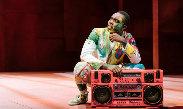 'Like an atom bomb': Paapa Essiedu brings youthful energy to Hamlet. Photograph: Manuel Harlan (c) RSC
